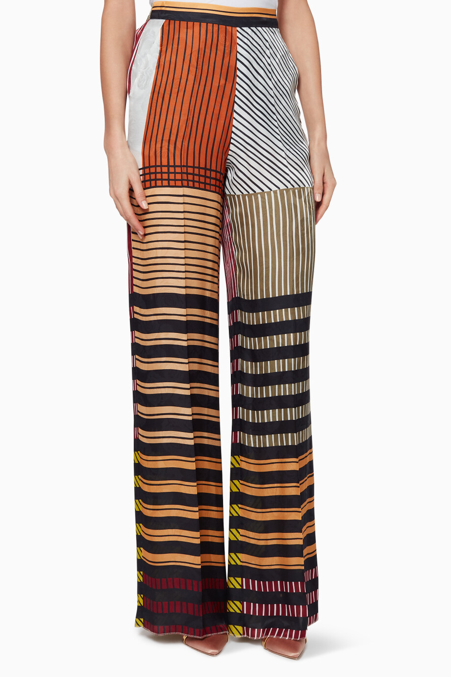 cf6f82ec8be45 Shop Etro Multicolour Multi-Coloured Palazzo Pants for Women ...
