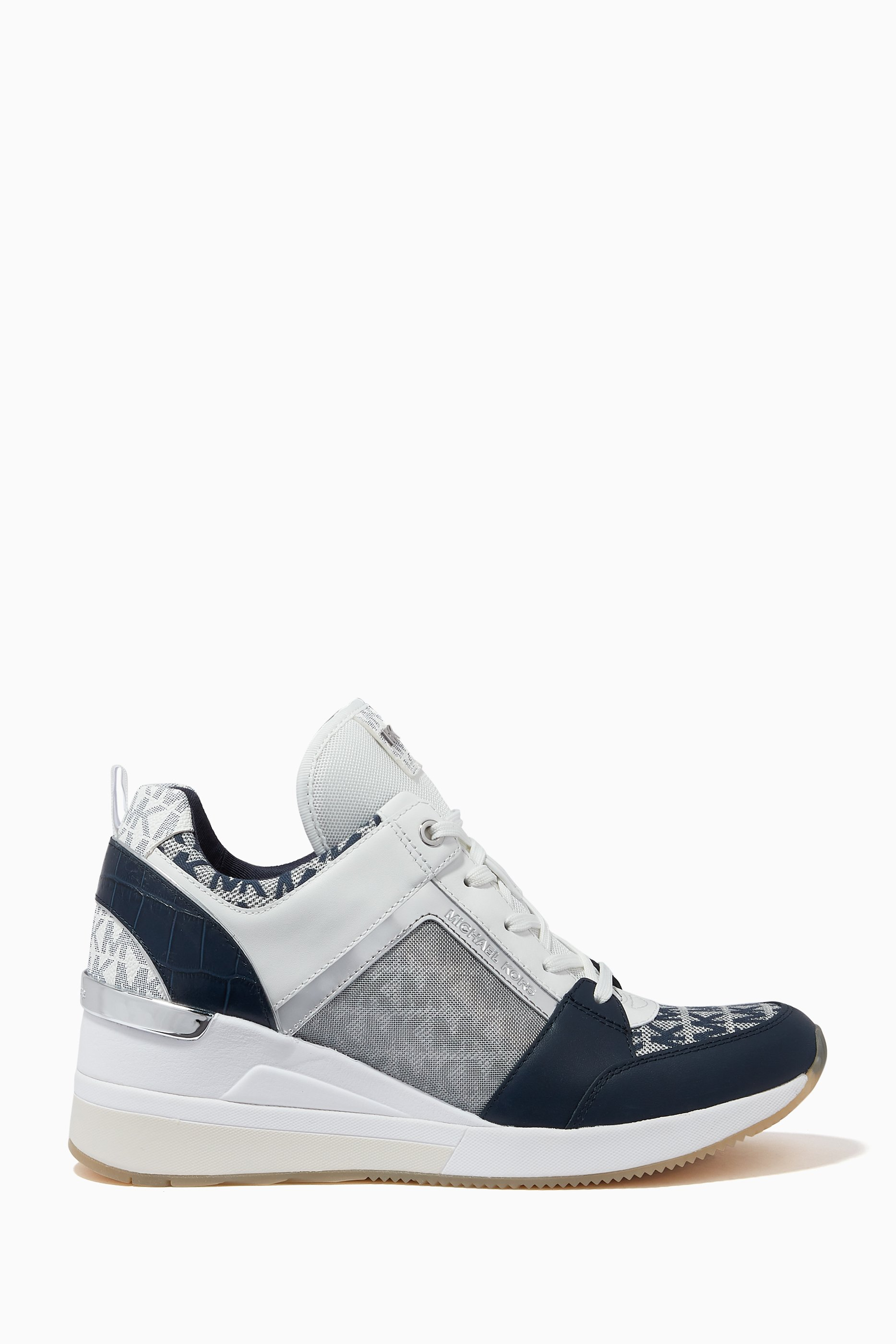 georgie canvas and leather sneaker