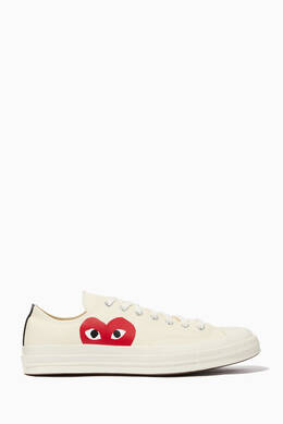 césped brillo pelo  Shop Play by Comme Des Garcons White x Converse Chuck Taylor 70 Low-Top  Sneakers for Men | Ounass Oman