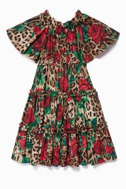 تسوق فستان بنقشة جلد الفهد متعدد الألوان Dolce Gabbana بنى للأطفال ا ناس البحرين