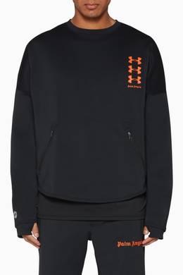 verdad inicial Ciudadanía  Shop Palm Angels Black x Under Armour Loose Crewneck Sweatshirt for Men |  Ounass Saudi