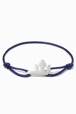 Shop Bil Arabi Gold Arabic Sh Letter Silver & Fabric Bracelet for Men    Ounass UAE