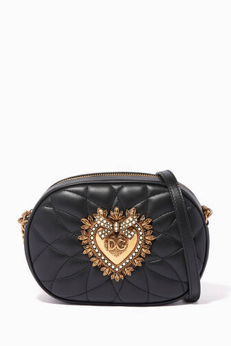 e3ca90b8eae Dolce & Gabbana. Devotion Small Quilted Nappa Leather Bag. 7,500 AED ·  Loading... NEW SEASON