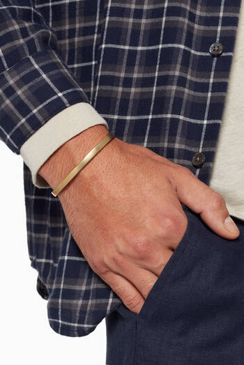 hover state of Gold Matte Single Cuff Bracelet