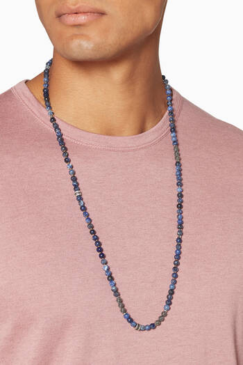 hover state of Blue Sodalite Formentera Necklace