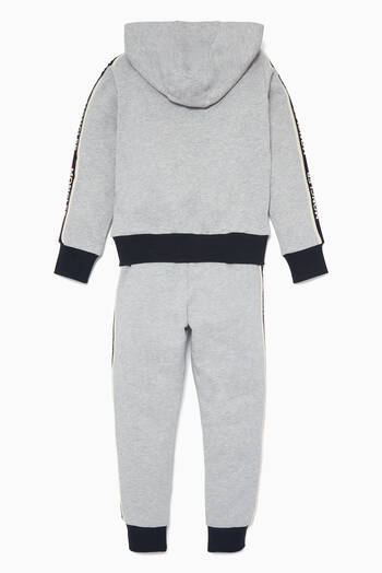 hover state of Grey Logo Stripe Tape Tracksuit