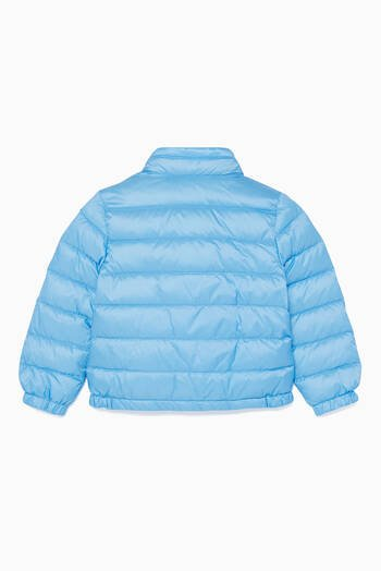 hover state of Sky-Blue Acorus Quilted Jacket