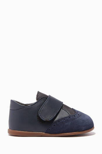 hover state of Leather & Suede Velcro Strap Shoes