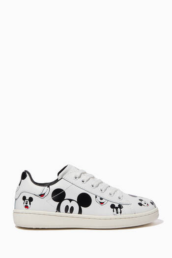 hover state of Mickey Mouse Leather Lace-Up Sneakers