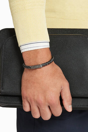 hover state of Click Tocco Leather Bracelet