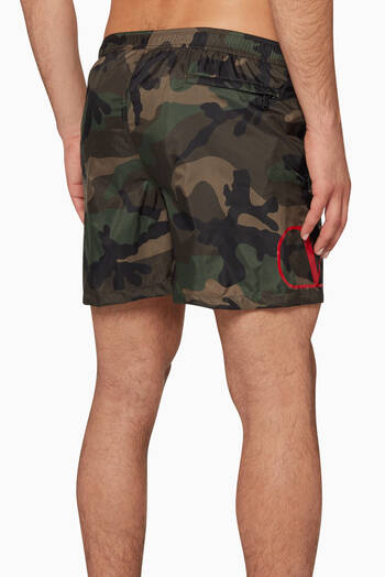 hover state of Logo Camouflage Swim Shorts