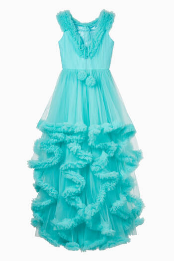 hover state of Glitter Star Embellished Tulle Dress