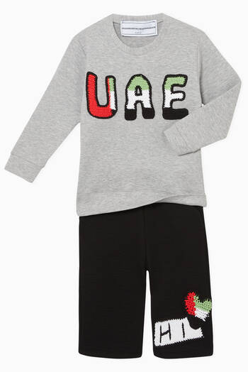 hover state of Exclusive UAE-Crochet Sweatshirt