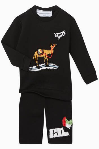 hover state of Exclusive Camel-Crochet Sweatshirt