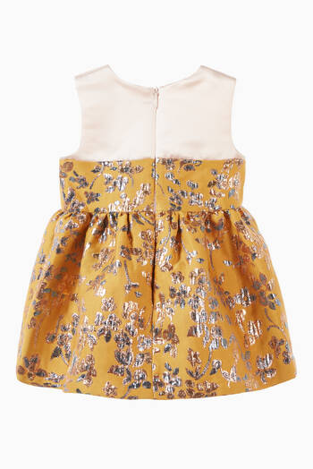 hover state of Ruffle Bib Bodice Dress & Bloomers