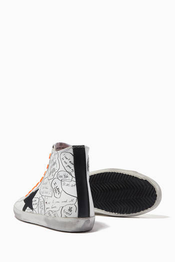 hover state of Francy Sneakers with Nubuck Star in Printed Leather