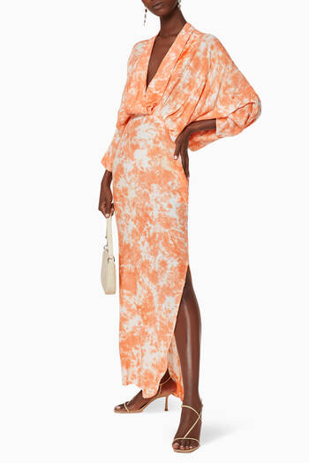 hover state of Plunge Maxi Dress