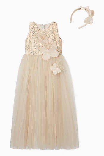 hover state of Butterfly Tulle Dress