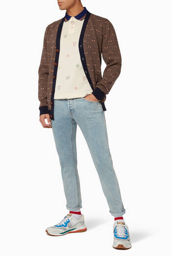 hover state of Washed Tapered Fit Jeans