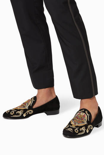 hover state of Quin Embellished Loafer in Suede
