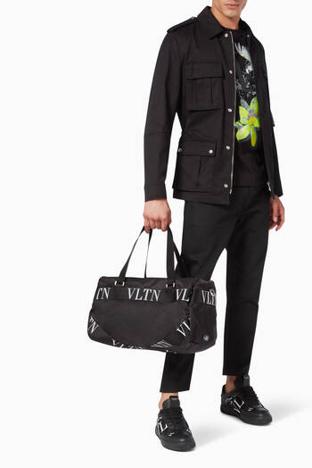 hover state of Valentino Garavani VLTN Ribbon Duffel Bag in Nylon