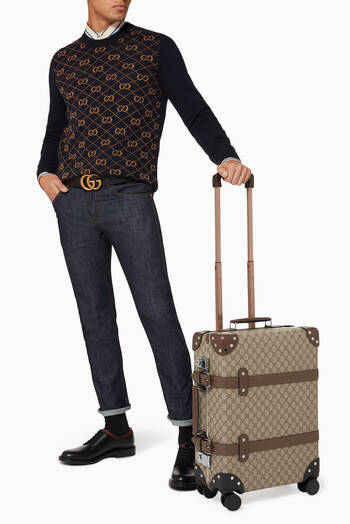 hover state of Globe-Trotter GG Carry-On in Leather & Canvas