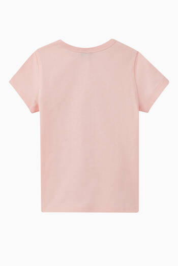 hover state of Logo Flower Cotton T-Shirt