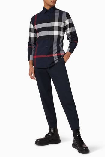 hover state of Check Stretch Cotton Poplin Shirt