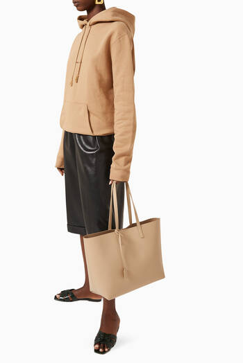 hover state of Medium E/W Shopping Bag in Supple Leather
