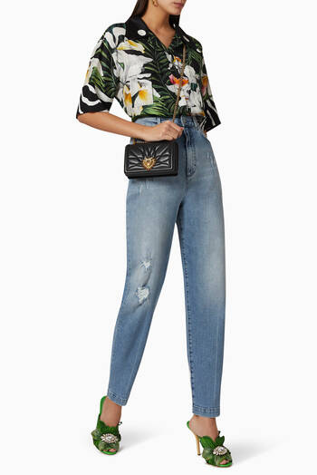 hover state of Distressed Boyfriend Jeans