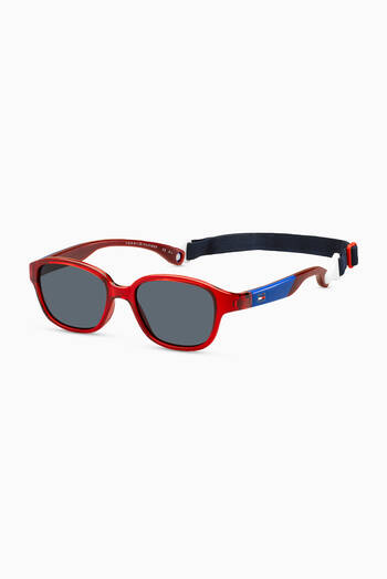 hover state of Colour Block Wayfarer Sunglasses