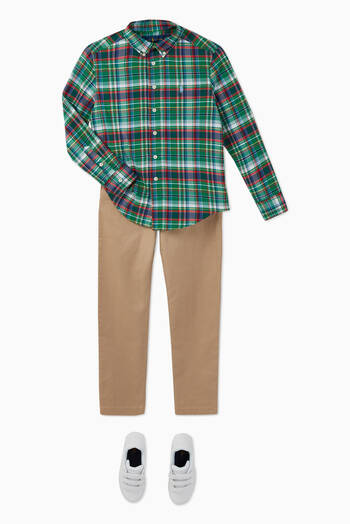 hover state of Plaid Performance Poplin Shirt