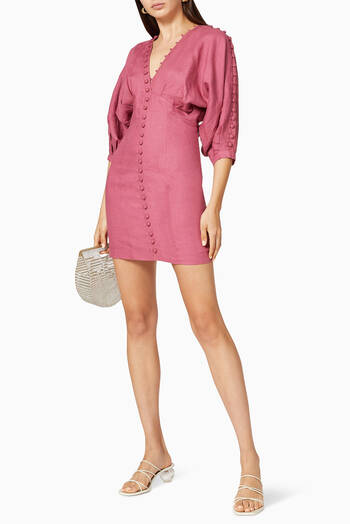 hover state of Isabella Linen Ramie Mini Dress