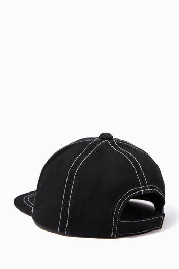 hover state of EA Eagle Topstitch Baseball Cap in Cotton