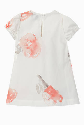 hover state of Rose Print Cotton Dress