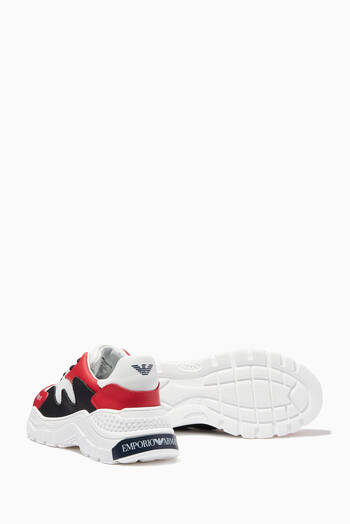 hover state of EA Chunky Sneakers in Leather & Mesh