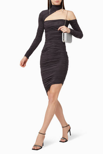 hover state of Draped Faux Suede Dress