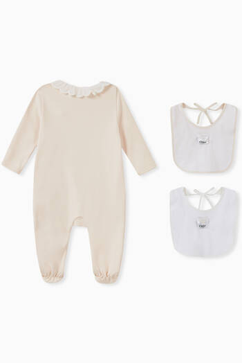 hover state of Cotton Pajamas & Bibs Gift Set