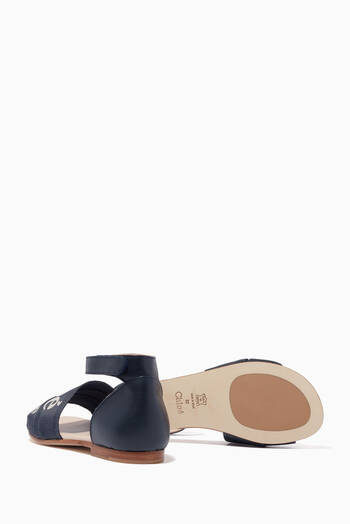 hover state of Woody Flat Sandals in Canvas