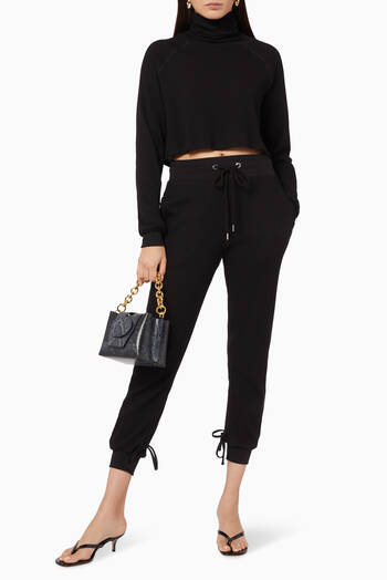 hover state of Cropped Turtleneck Top