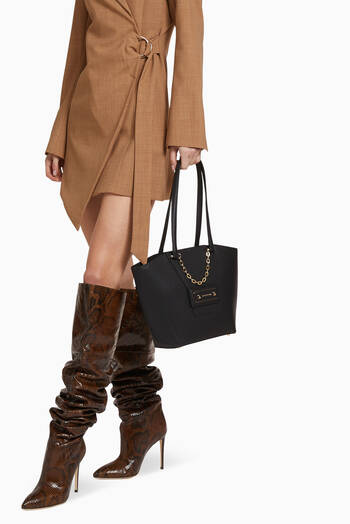 hover state of Diva Shopping Bag in Leather