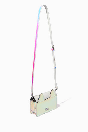 hover state of Choupette Holographic Shoulder Bag in Faux Leather