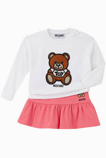 hover state of Teddy Bear Logo Cotton Sweatshirt