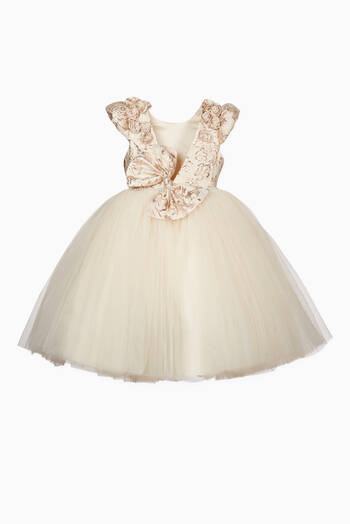 hover state of Gold Cream Primrose Dress