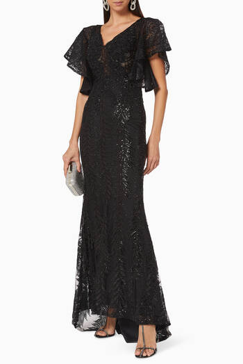 hover state of Sequins Lace Gown