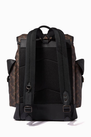 hover state of Hitch Backpack in Signature Canvas with Horse & Carriage Print