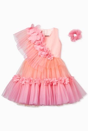hover state of Hand Sewed Petals Tulle Dress