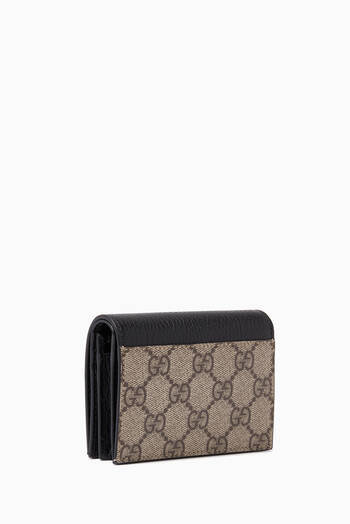 hover state of Petite Marmont Card Case in Leather & GG Supreme Canvas