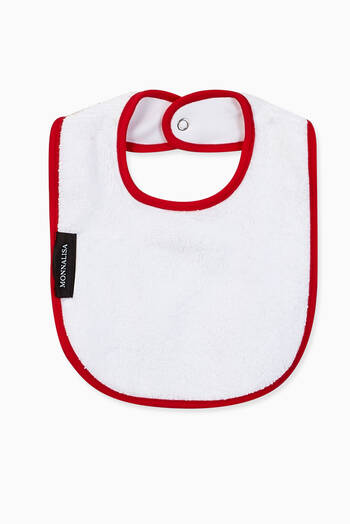 hover state of Contrast Trims Boat Print Bib