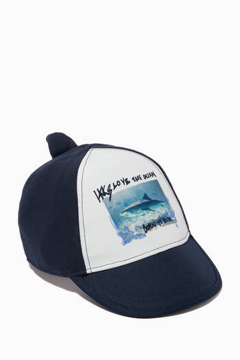 hover state of Shark Print Cap